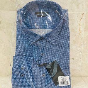 BUGATCHI {XXL} Dress Shirt Blue 8-Way Stretch 🆕